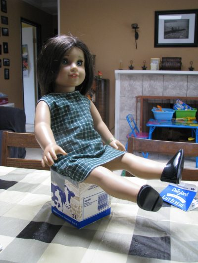 Milk Carton Doll Chair