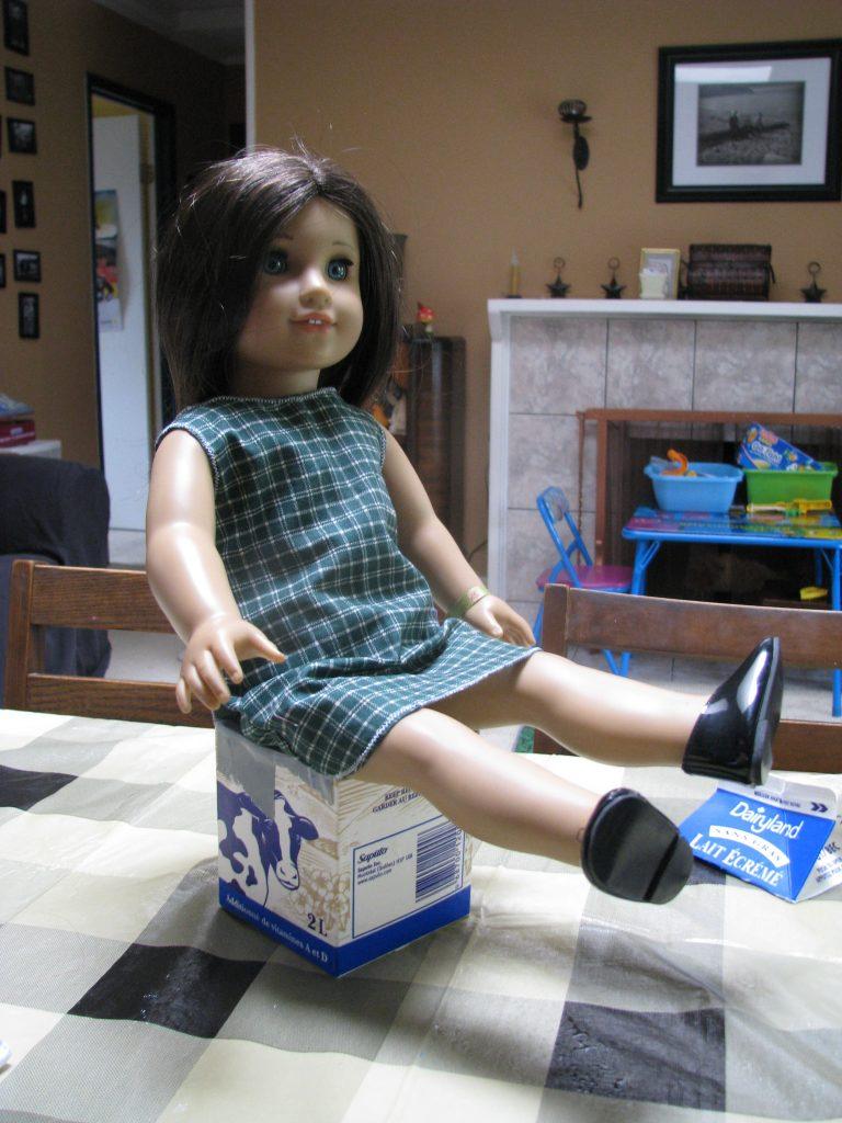 Milk Carton Doll Chair