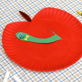 Peekaboo Apple Paper Plate