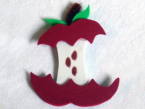 Magnet Foam Apple Fun Family Crafts