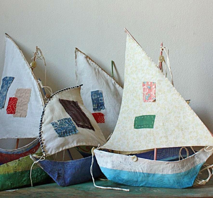 Paper mache boat fun family crafts for Group craft ideas for adults