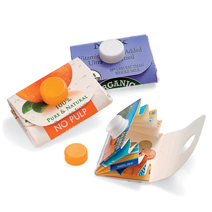 Recycle a milk or orange juice carton into a clever carrying case for