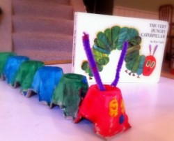 Very Hungry Egg Carton Caterpillar