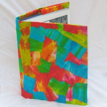 Decoupage Tie-Dye Book Cover
