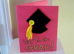 grad cap card