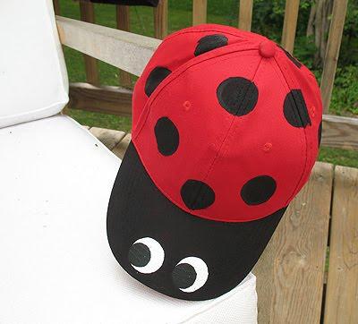 Make a Ladybug Baseball Hat