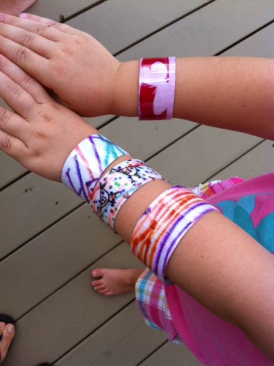 Plastic bottle cuff bracelets fun family crafts for Things to make with plastic bottles for kids