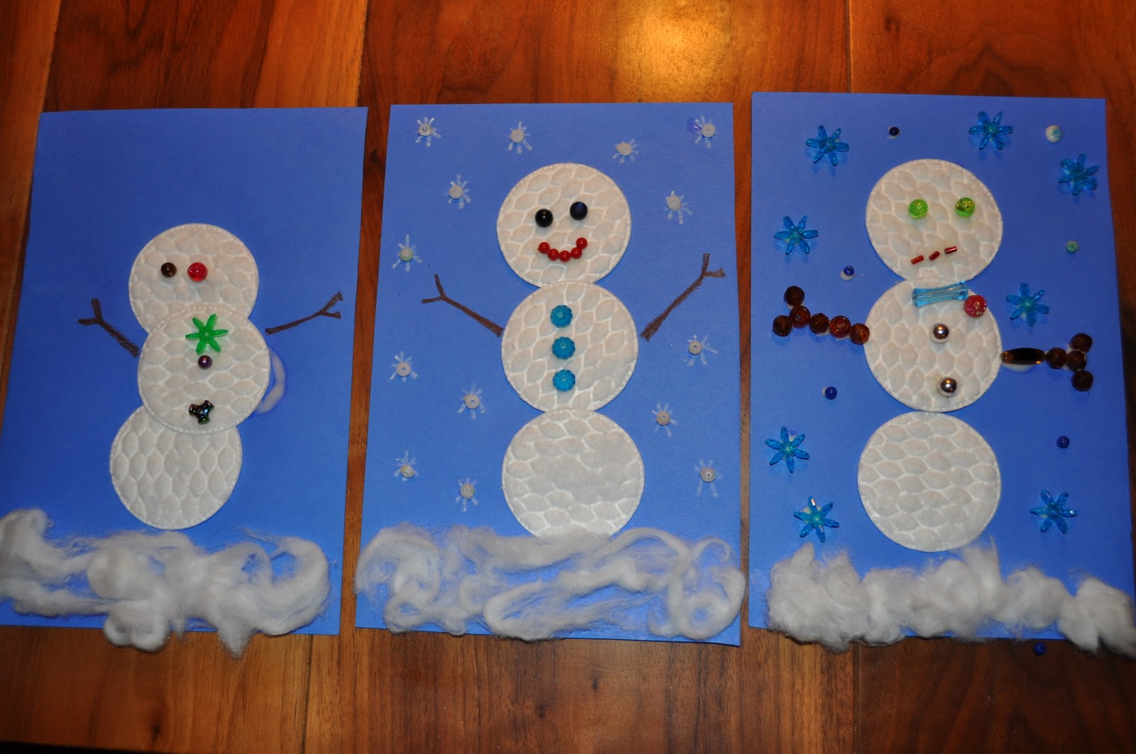 snowman activities for preschool cotton rounds snowman family crafts 242