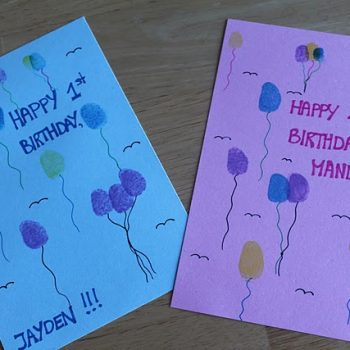 Thumbprint Birthday Cards