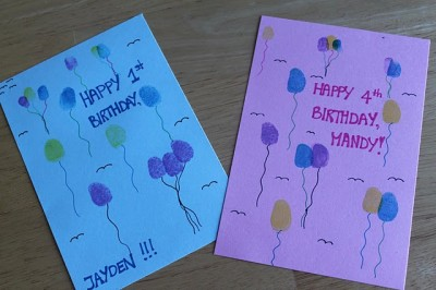 Birthday Card Craft Ideas For Toddlers ~ Thumbprint birthday cards fun family crafts