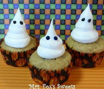 Banana Ghost Cupcakes