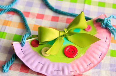 paper plate purse