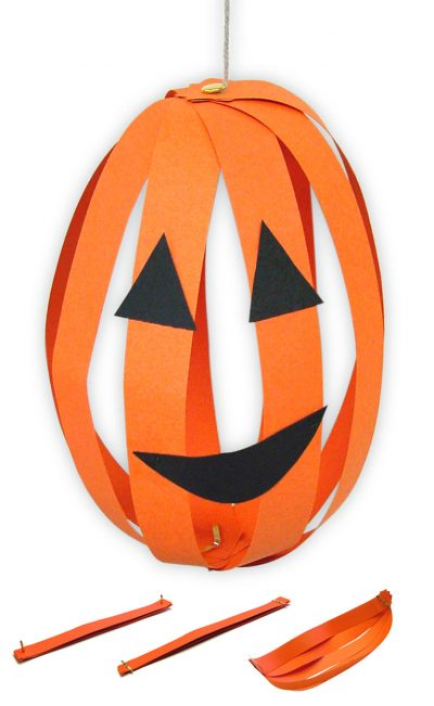 Paper Strip Jack-o-Lanterns