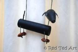 Cardboard Tube Dog Marionette