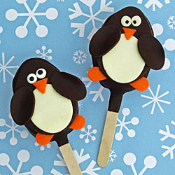 Chocolate Penguin Pops