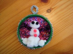 Recycled Snowman Ornament