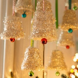 Tinsel Bell Ornaments