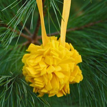Felt Pom Pom Ornament