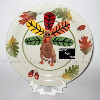 Footprint Turkey Keepsake Plate