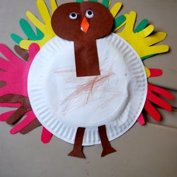 Turkey with Handprint Feathers