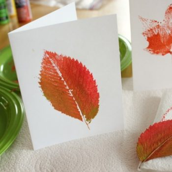 Leaf Painted Fall Cards