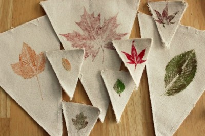 Leaf Stamped Fall Banner