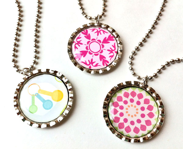 necklace craft ideas bottle cap necklaces family crafts 2542