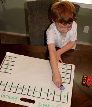 Sight Word Parking Lot Game