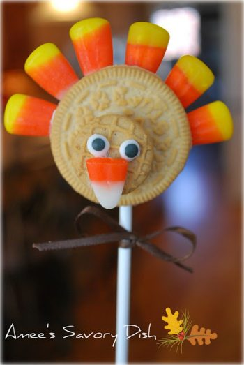 Turkey Cookie Pops