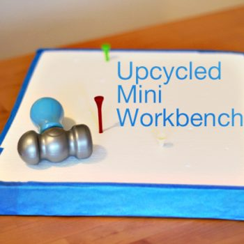 Upcycled Mini Workbench