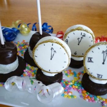Edible New Year's Clocks and Hats