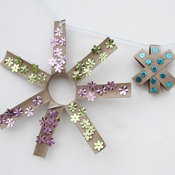 Cardboard Tube Star Garland