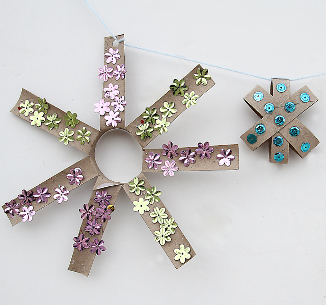 Cardboard Tube Star Garland Fun Family Crafts
