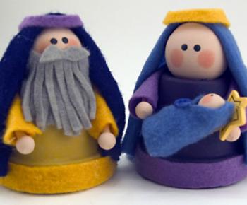 Clay Pot Nativity
