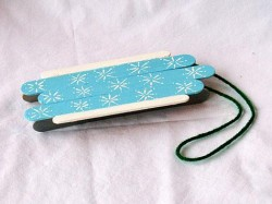 Craft Stick Sled Ornament