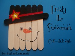 Craft Stick Snowman