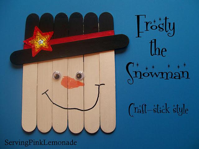 Craft Stick Snowman