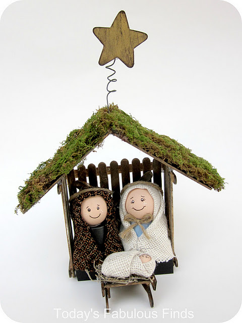 Craft Stick and Clay Pot Children's Nativity Set