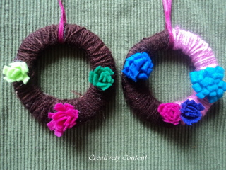 Cardboard Mini Wreaths