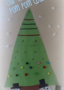 Pom Pom Christmas Tree Countdown