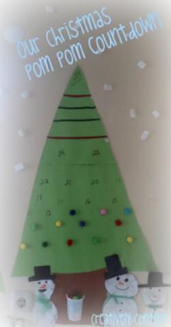 Pom Pom Christmas Tree Countdown