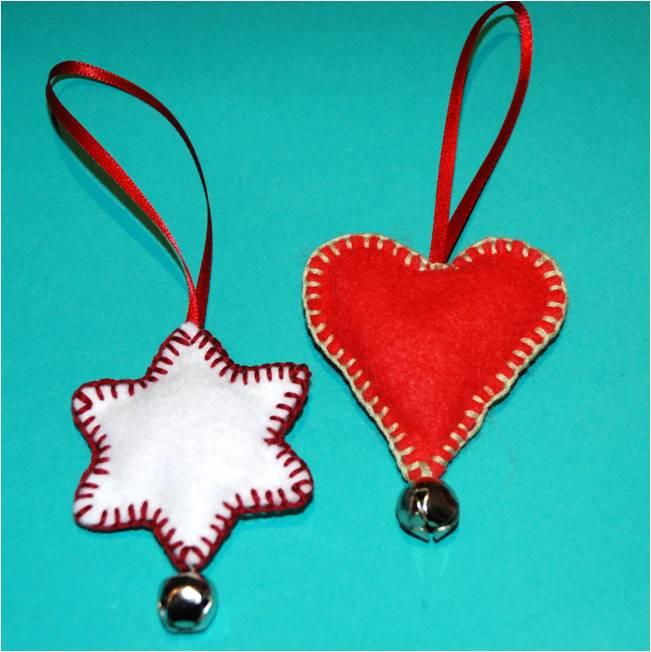 Easy Felt Christmas Ornaments