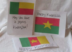 Flags of Africa Kwanzaa Cards