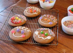 Gingerbread Face Cookies