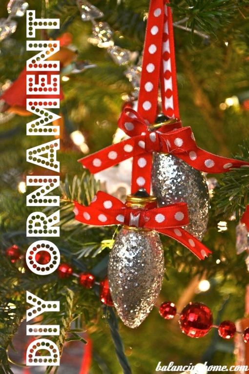 Glittery Light Bulb Ornaments
