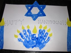 Handprint Menorah