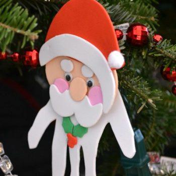 Handprint Santa Ornaments