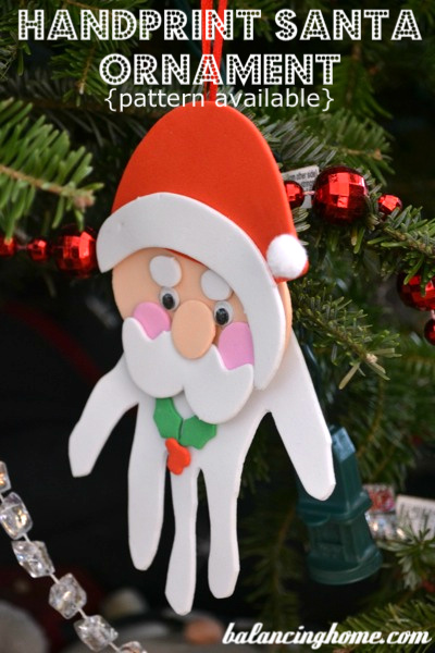 Handprint Santa Ornaments Fun Family Crafts