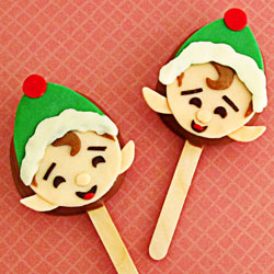 Chocolate Caramel Lollipop Elves