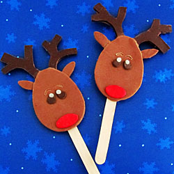 Chocolate Reindeer Lollipops